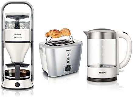 Philips - Juego de desayuno de 3 piezas Cafetera de goteo + ...