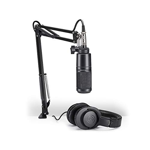 (Audio-Technica AT2020PK Vocal Microphone Pack for Streaming/Podcasting (Renewed))
