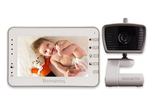 Multi Room Baby Monitors (MoonyBaby 4.3 Inches LCD Video Baby Monitor with Automatic Night Vision & Temperature Monitoring, Two Way Talkback System (MANUALLY Rotated Camera))
