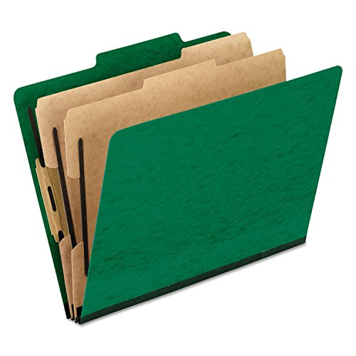 (Pendaflex 1257GR Six-Section Colored Classification Folders, Letter, 2/5 Tab, Green, 10/Box)