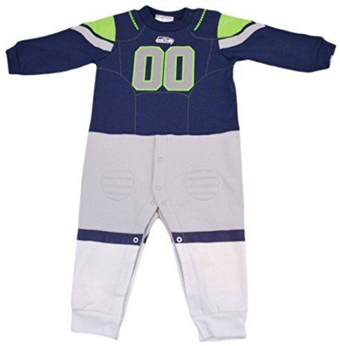 (Official National Football League Fan Shop Authentic NFL Baby Team Uniform Romper (Seattle Seahawks, 12 Months))