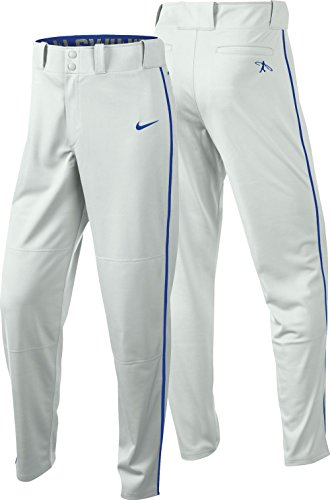 Nike Men's Swingman Dri-FIT Piped Baseball Pants (White/Royal, Medium) by NIKE