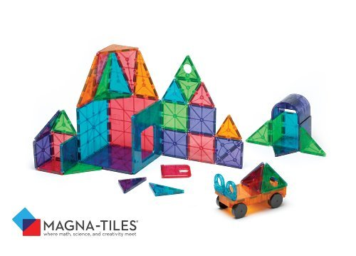 Magna-Tiles 48-Piece Clear Colors DELUXE Set, The Original, Award-Winning Magnetic Building Tiles for Kids, Creativity and Educational Building Toys for Children, STEM Approved