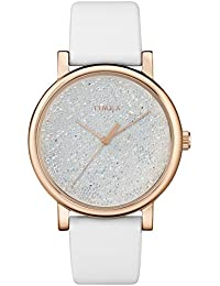 Women's TW2R95000 Crystal Opulence White/Gold Leather Strap Watch