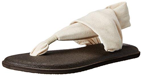 Sanuk Women's Yoga Sling 2 Metallic Flip Flop, Rose Gold, 7 M US ()