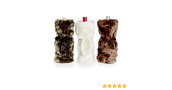 Amazon.com   INC International Concepts Faux Fur Wine Bag (Brown)  Bar  Tools   Drinkware a7b51fc597