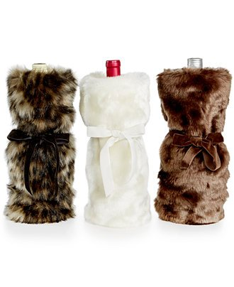 Image Unavailable. Image not available for. Color  INC International  Concepts Faux Fur Wine Bag ... 7ca7fd290f