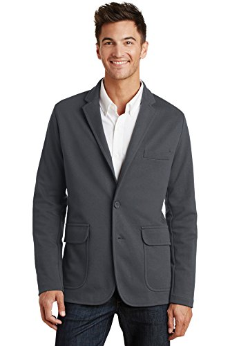 (Port Authority Knit Blazer. M2000 Battleship Grey S)