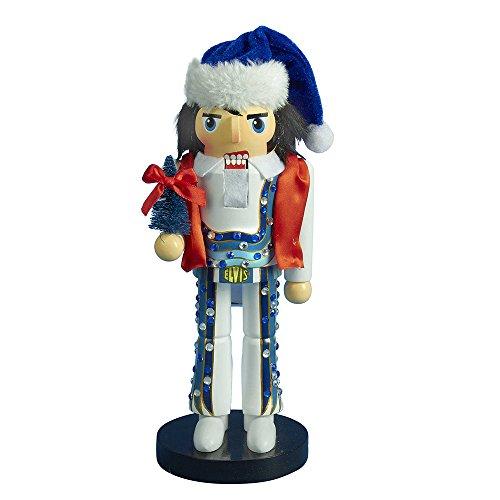 Kurt Adler Elvis Presley Blue Jumpsuit Nutcracker, 11-Inch ()