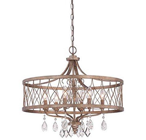 Minka Lavery Chandelier Pendant Lighting 4406-581, West Liberty 1 Tier Dining Room, 6 Light, Olympus Gold (Pendant Olympus 1 Light)