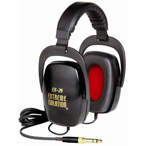 Direct Sound EX-29 Dynamic Closed Headphones Black w/10' Headphone Extension Cable