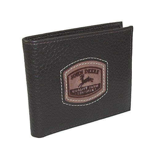 John Deere Men's Historical Logo Passcase Wallet, Brown, One Size