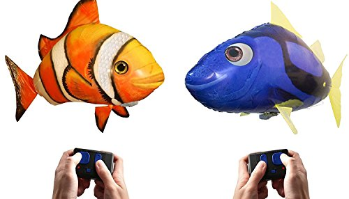 Remote Control Fish (Air Swimmers Remote Control Flying Regal Tang and Clownfish)