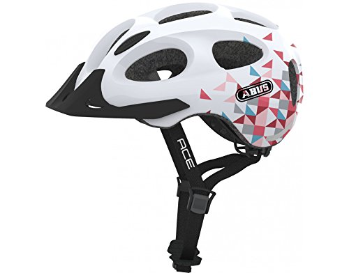 Abus Youn-I Ace - Lg - 56-61 Bike Helmet, White Prism