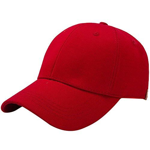 Cotton Armoire (HHei_K Womens Ponytail Adjustable Cotton Baseball Cap Pure Color Open Snap-Back Hat Sun Caps)