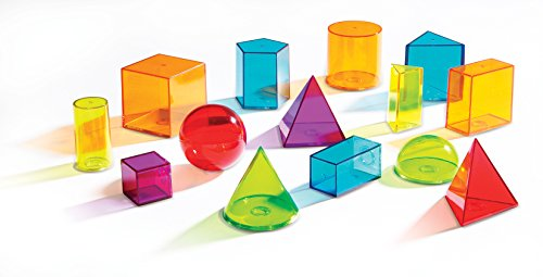 Learning Resources Viewthru Geometric Solids (14Colored)