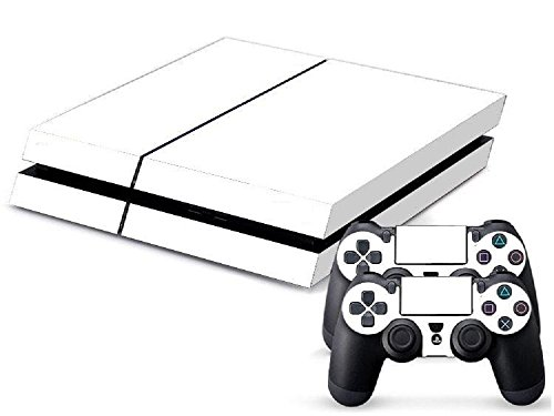 TFSM Branded Plain White Matte White PS4 Playstation 4 Skin Decal for console and 2 - The White Mall Plains