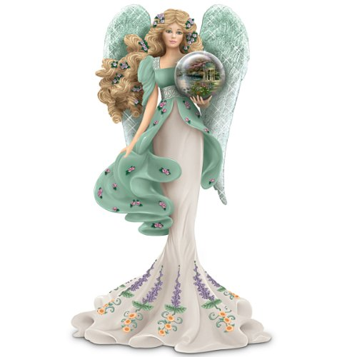 Thomas Kinkade Religious Figurine: Guardian Of The Garden Of Prayer by The Hamilton ()