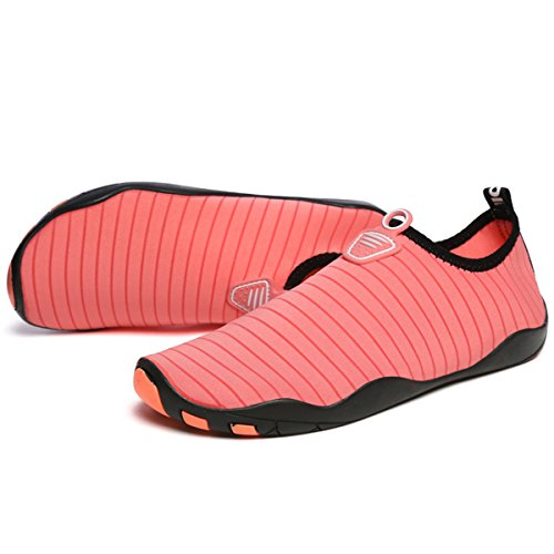 Unisex Mutifunctional L Wading Shoes RUN Breathable Pink Mesh Casual Sports Outdoor Heeled Flat 5HFFpqXwx