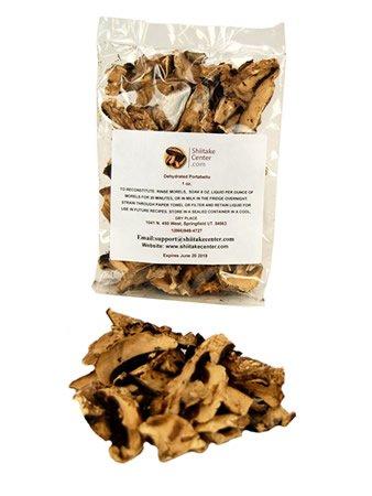 Portobello Mushroom (Dried Portabella Mushrooms - 1 Oz. Bag - Dehydrated Edible Gourmet Agaricus Bisporus Fungi: Portobello)