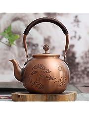 kung fu herbata japońska ceremonia herbaty herbata naczynie do herbaty czajnik czysta miedź czajniczek ręcznie robiony miedziany garnek wrząca woda miedź garnek 1,3 l (typ 12)