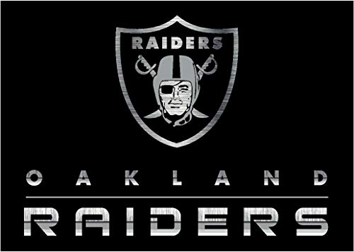 Milliken Imperial Officially Licensed Home Furnishings: NFL Team Chrome Area Rug, Oakland Raiders, 3'10