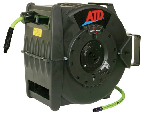 ATD Tools 31163 Levelwind Retractable Air Hose Reel with 3/8