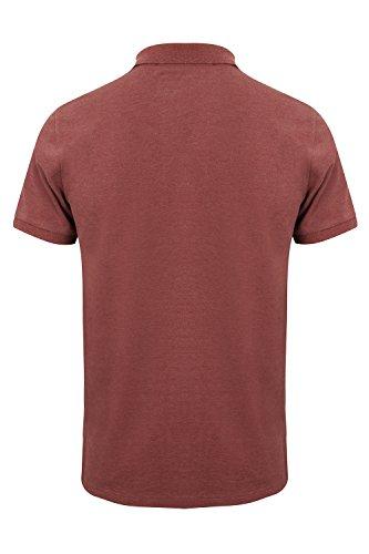 Tokyo Laundry - Polo - camisa - Básico - Clásico - para hombre 1X9295 _OakHarbour_Bordeaux Marl - Red