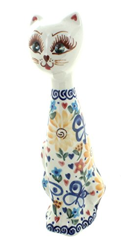 Polish Pottery Butterfly Small Cat