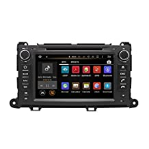 XTTEK 8 inch HD 1024x600 Multi-touch Screen in dash Car GPS Navigation System for Toyota Sienna 2011-2014 Quad Core Android DVD Player+Bluetooth+WIFI+SWC+Backup Camera+North America Map