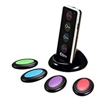 Esky Wireless RF Item Wallet Locator Key Finder 4 Receivers with LED Flashlight and Base Support