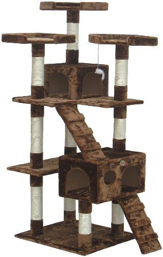 Gopetclub Cat Tree House 72u0026quot;, Cheap Cat Trees And Condos, Cat Tree  Tower