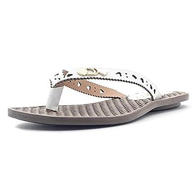 03e5dc3eac15 Tchocco Estrela Tong confort femme - Blanc  Amazon.fr  Chaussures et ...