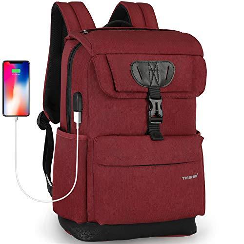 Men Laptop Water College Women For Travel Laptopmacbook Resistant 6 School Tigernu Usb 15 Inch Charging Port Fits Bookbag With Computer Bag Backpack JTlc1FK