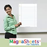 MagnaSheets (TM) for Teachers | Dry Erase Magnetic Notebook Paper for Classrooms