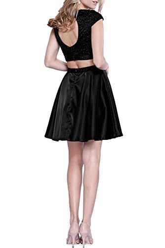 Tanzenkleider Gruen Cocktailkleider Perlen Partykleider Kurzarm Traube Heimkehr La Jaeger Braut Marie teilig Abendkleider Mini Zwei Bnq7fTa4