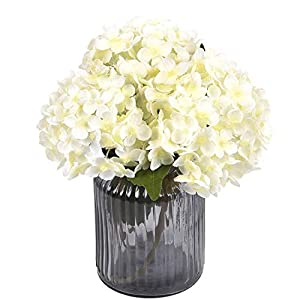 Sunm Boutique Artificial Hydrangea Flowers Bulk with Stems, Silk Hydrangea Flowers Heads Leaves, Artificial Flower Bouquets for Wedding Bouquets Centerpieces Arrangements Party Home Decor, Pack of 3 11