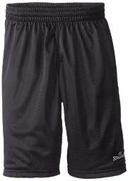 Spalding Big Boys\' Basic Mesh Short, Graphite, 10-12