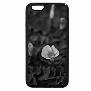 iPhone 6S Plus Case, iPhone 6 Plus Case (Black & White) - PINK AND PURPLE FLOWERS