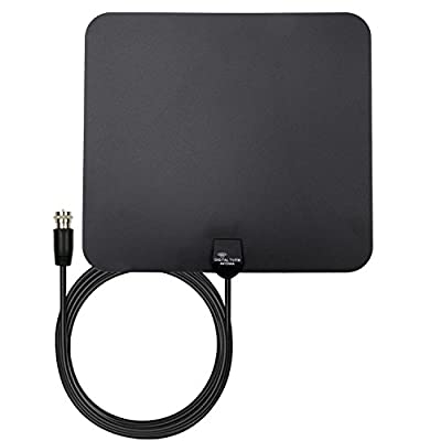 TV Antenna 35 Mile Amplifier HDTV Indoor Antenna with Premium Materials for Reception Digital TV Antenna, Long Range Antenna for TV - 16ft Coaxial Cable