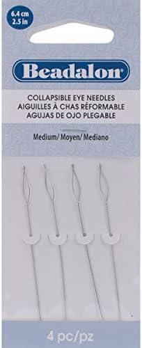 Beadalon Collapsible Eye Needles 5 4//Pkg Medium