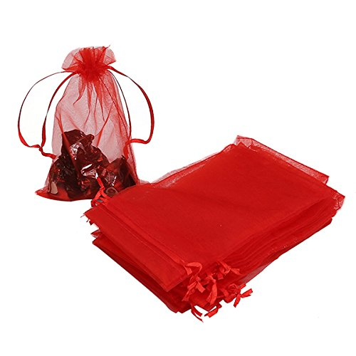 HRX Package 100pcs Organza Bags,4