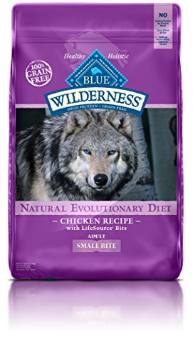 BLUE Wilderness Adult Small-Bite Grain-Free Chicken Dry Dog - Grain Free Dog Food Small Bites