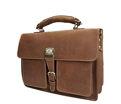 And Durable Business Bag Single Shopping Messenger Men's Vintage Bags Handbags Briefcases Brown Light Wear travel resistant Shoulder Shoutibao BF6xwqff