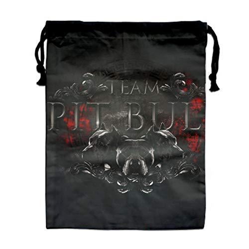 Travel Drawstring Dress Shoes Bags Pitbull Bro Pouches Case Foldable Bags Fashion Shoes Tote ()