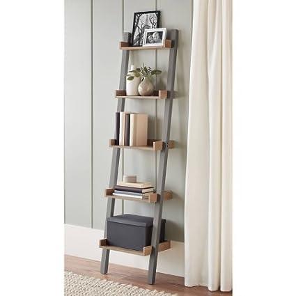 Amazoncom Better Homes And Gardens Bedford 5 Shelf Narrow Gray