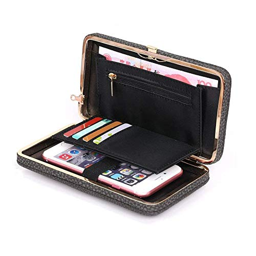 0f2e7c4fb204 Achieer Women Bowknot Wallet Large Long Purse Phone Card Holder ...
