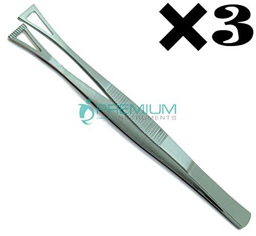 3× Collin Duval Tissue Forceps 15cm Body Piercing Tweezer Premium Instruments by Premium Instruments (Image #5)