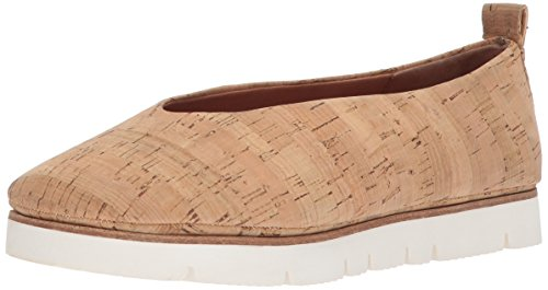 Gentle Women's Natural Souls Slip Flat Bottom Ballet White Demi Eva xRxBZ