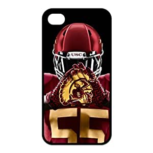NCAA USC Trojans Logo for Iphone4/4s Best Rubber Cover Case-Creative New Life